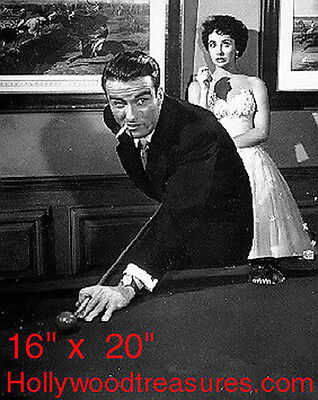 "Liz Taylor~Monty~Shooting Pool~Playing Pool~Billiards~Poster~16"" x 20"" Photo"
