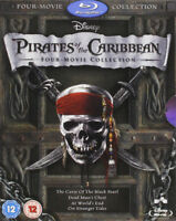 Pirates of the Caribbean 1-4 Box Set Bluray