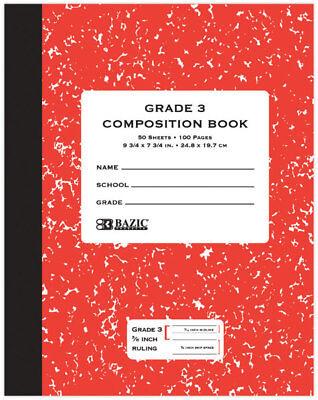 Bazic 50 Count Grade 3 Primary Composition Book (Case of 24)