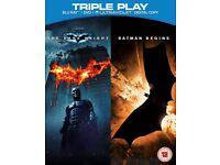 New and Sealed. Batman Begins & The Dark Knight on Blu Ray
