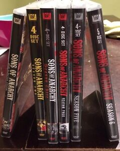Sons of Anarchy seasons 1 to 6 DVD