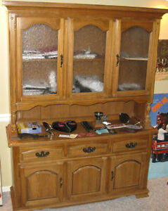 1960's Maple China Cabinet