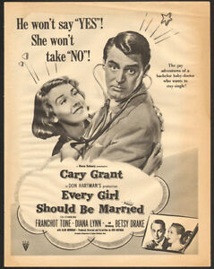 1948 large, full-page, authentic Cary Grant movie ad