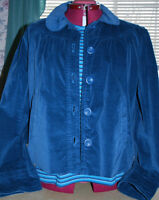 DARK TURQUOISE JACKET XL & MATCHING STRIPED T-SHIRT L