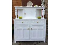 White Vintage Dresser ~ Shabby Chic Sideboard