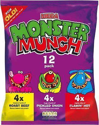 ***British food**Monster munch crisps (chips)  multi pack