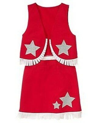 GYMBOREE 4th Of July COWGIRL 2-PC HALLOWEEN COSTUME 3 4 5 6 7 8 9 NWT-OT - Fourth Of July Halloween Costumes