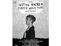 Justin Bieber Thursday Ticket Swap Glasgow the 27th of October