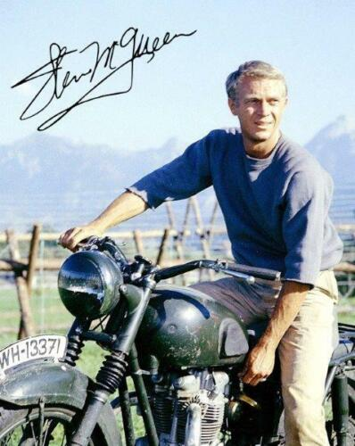 REPRINT - STEVE MCQUEEN The Great Escape Autographed Signed 8 x 10 Photo Poster
