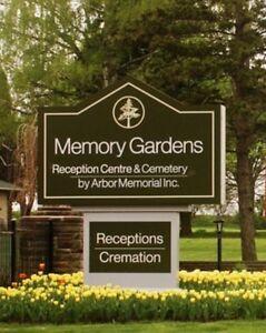2 cemetery plots in the garden of Christus.  Stratford Kitchener Area image 1