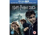 3d Blu Ray - New & Sealed - Harry Potter & The Deathly Hallows Pt 1