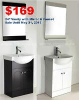 Bathroom Vanity+Faucet+Mirror from $169! Huge Selection!