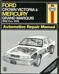 Ford Crown Vic Mercury Grand Marquis Shop Manual 1988-1996