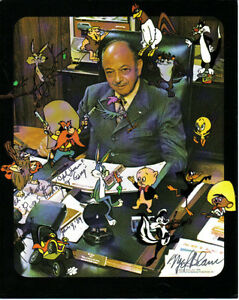 8x10 Colour Phote Mel Blanc Autographed the photo Mel Blanc