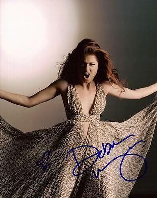 Debra Messing Signed 8X10 Photo Will   Grace Smash Coa