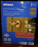 Keyed Entry Exterior Brass Locking Door knob