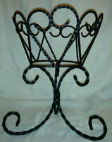 Rough Twisted Iron Plant Stand