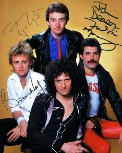 REPRINT - QUEEN Freddie Mercury - May Signed 8 x 10 Photo Poster Man Cave