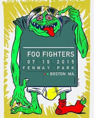 FOO FIGHTERS Dave Grohl Live at Fenway Park Concert 8 x 10 Glossy Green Monster