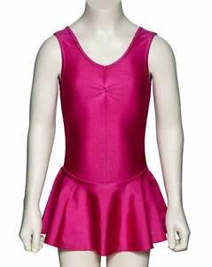 Girls-Lycra-Ballet-Dance-Leotard-With-Skirt-Dress-All-Colours-KDR005-By-Katz
