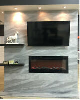 Marble, Granite, Porcelain for Fire Place, Feature walls