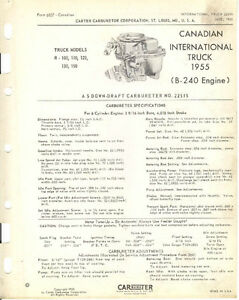 IH with Carter carb 2287S