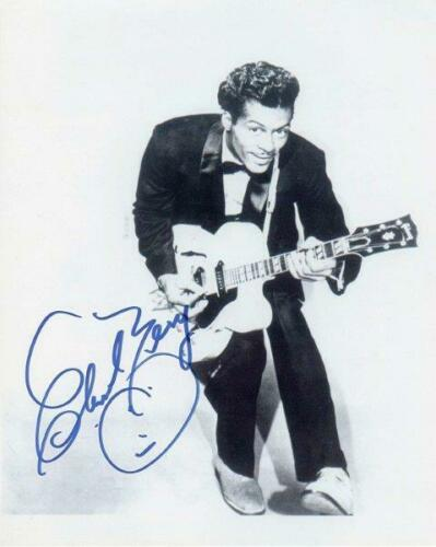 REPRINT - CHUCK BERRY Vintage Signed 8 x 10 Glossy Photo Poster RP Man Cave