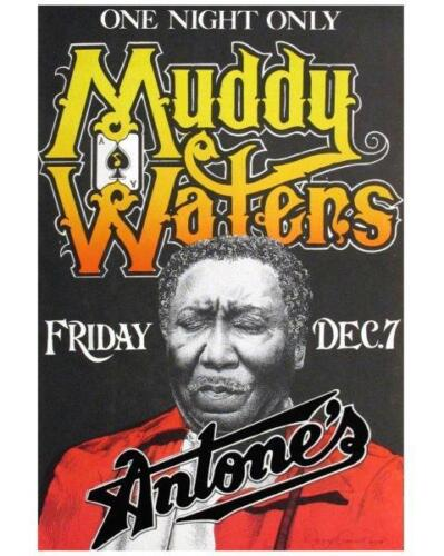 MUDDY WATERS Concert Poster Live Blues Guitar B&W Glossy 8 x 10 Photo Man Cave