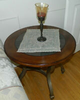 Coffee Table & 2 End Tables Wood & Stone Sold Together or Alone