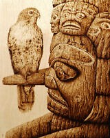 ORIGINAL PYROGRAPHY/WOODBURNING ART: ANIMALS, NATURE, NATIVE