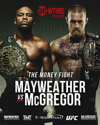 FLOYD MAYWEATHER vs CONOR MCGREGOR Boxing 8 x 10 Glossy Photo (Boxing Floyd Mayweather Jr Vs Conor Mcgregor)