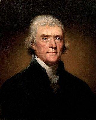Thomas Jefferson Founding Fathers Usa U.s. 11 X 14 Photo Poster Picture