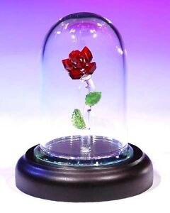 New Crystal World The Enchanted Red Rose Figurine Figure     879