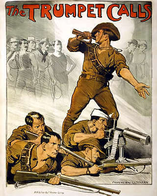 AUSTRALIAN ARMY RECRUITMENT POSTER 8X10 PHOTO WWI