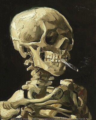 Skull with Burning Cigarette Vincent Van Gogh Art Print 8x10 Image Conscious