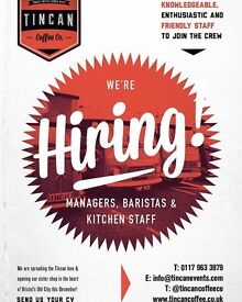 Tincan Coffee Co Crew baristas, assistant managers, kitchen staff