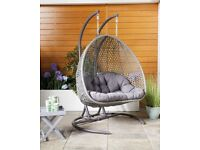 LARGE/DOUBLE Rattan HANGING EGG CHAIR - *CHEAP* *IMMEDIATELY AVAILABLE* *BRAND NEW* Gardenline/Aldi