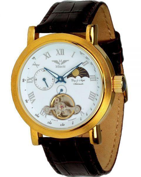 Minoir Uhren - Mistral gold - Unisex-Automatikuhr, Herrenuhr, Damenuhr