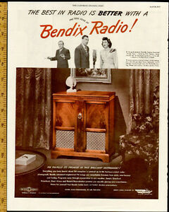 1947 large, full-page magazine ad for Bendix Radios