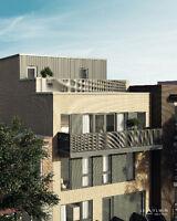 Rosemont condo neuf 941 pi² 2 ch - jardin  - 299000$