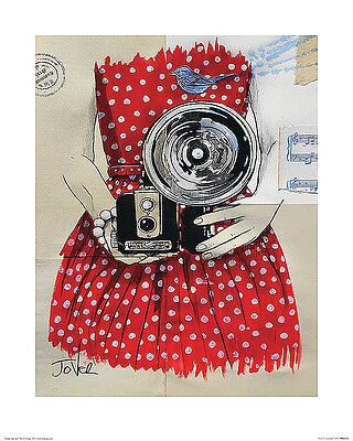 Cheap Unique Costumes (UNIQUE HIPSTER GIFT CALLED FLASH ART PRINT red dress vintage camera 16x20)