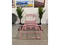 Single Metal Bed Frame - Pink No211003