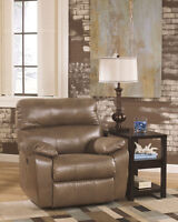 New Windmaster Taupe Leather Rocker Recliner