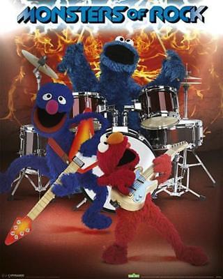 Rock, Mini-poster (Sesam Straße: Monsters Of Rock - Mini Poster 40cm X 50cm New And Sealed)