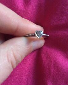 Size 48 heart Pandora ring