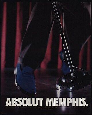 1999 ABSOLUT Memphis - ELVIS Blue Suede Shoes - Vodka - VINTAGE AD