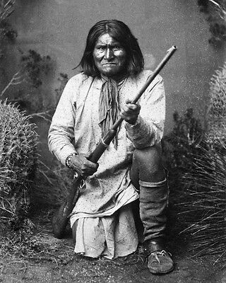 New 8x10 Photo: Geronimo in 1887, Leader of the Bedonkohe Apache Indian Tribe