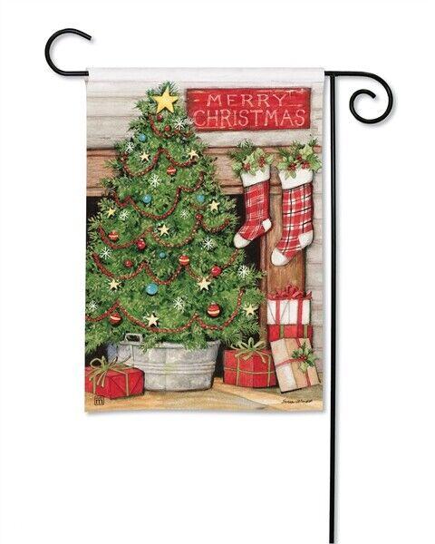 Flag Welcome Christmas Tree Garden Yard Patio House Banner B