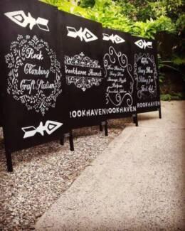 blackboard signs chalkboard artist a-frames signwriter