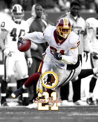 Washington Redskins SEAN TAYLOR Spotlight Unsigned Photo 16x20 #1 Vs Cowboys - Redskin Vs Cowboys
